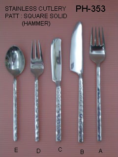 wholesale dinnerware /cutlery set, thailand handmade with best stainless steel
