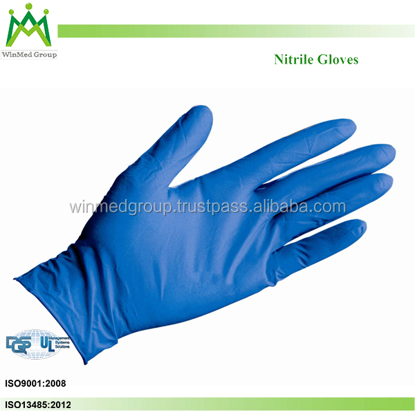 Disposable nitrile gloves for examination with free sample