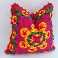 Suzani pillow cases beautiful floral woolen embroidery wholesale cushion cover