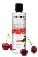 Passion Licks Cherry Water Based Flavored Lube - 8 ounces great for vibrators adult sex toys and masturbation