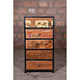 Reclaimed Wood Industrial Vintage Drawer Chest Cabinet Furniture