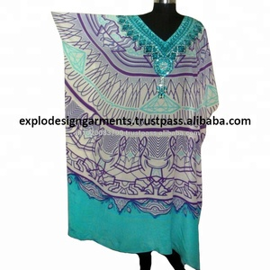new fashionable digital printed evening wear women long kaftan