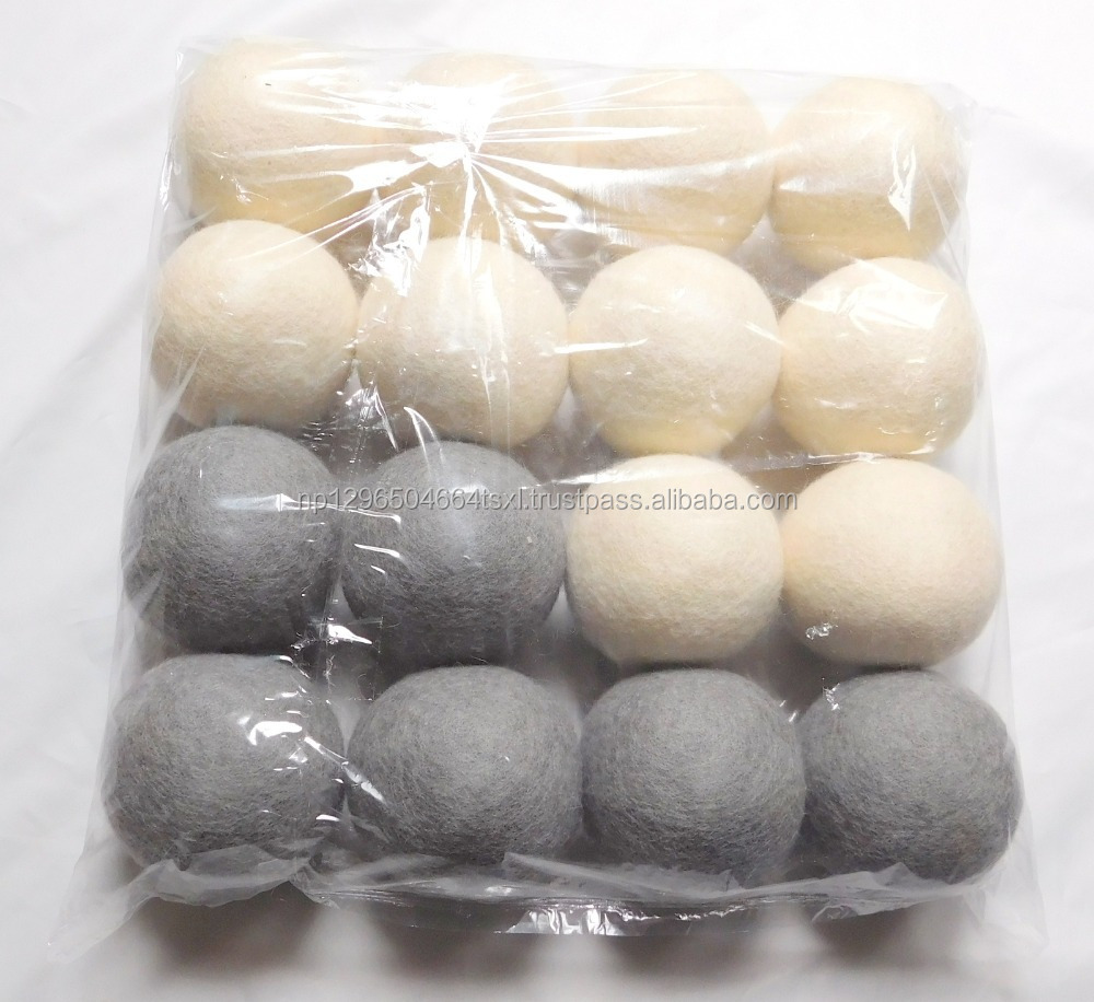 Handmade Felt Pure Wool Dry Laundry Ball- Dryer ball 100 percent Wool-Laundry dryer From Nepal-Manufacturer-Whole-seller