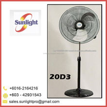High Quality Three Blades Industrial Standing Fan from Malaysia