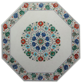 Marble Table Top Beautiful Nice Inlay Art