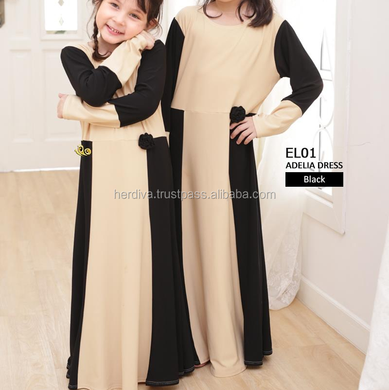 Kid Jubah Children baby clothing dresses Wholesale Supply HIGH QUALITY Long Dress Islamic Long Sleeve Kebaya Maxi Kid Wear