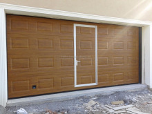 High Quality Cheap European Style Garage Doors Electric Operation With Motor