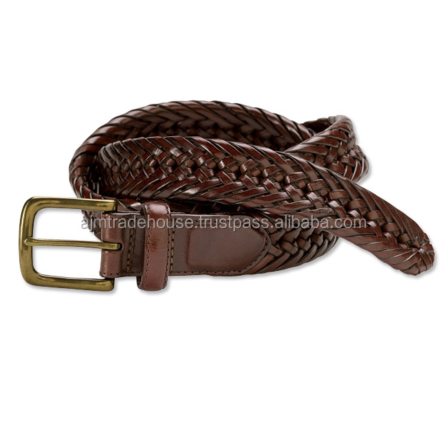 Fashion Accessories Men's Casual Jeans Genuine Leather Braided belt