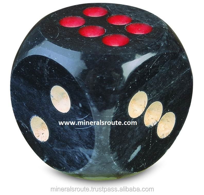 DICE-LUDO GAME ONYX MARBLE