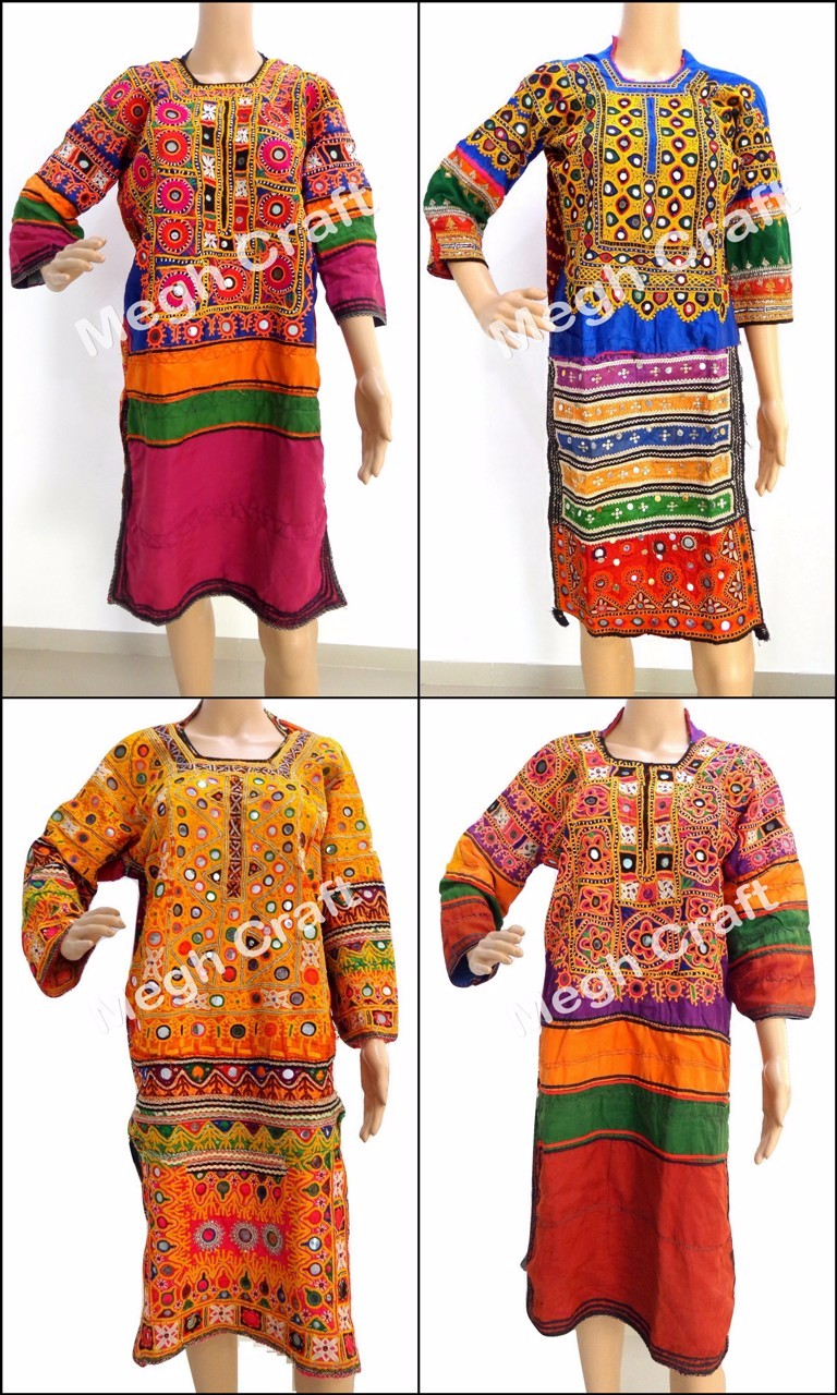Handmade Balochi Coins Dress-Kuchi Vintage Tribal Dress -Kohistani Ethnic Costume Dress With Tassels