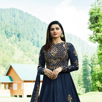 Kaseesh Kashmir Valley Silk - Georgette Unstitched 3 Piece Party Wear Salwar Kameez Suit