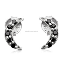 Black spinel earrings 925 sterling silver jewelry for women gemstone earrings