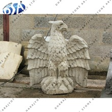 Natural White Sandstone Hand Carved Eagle Statue