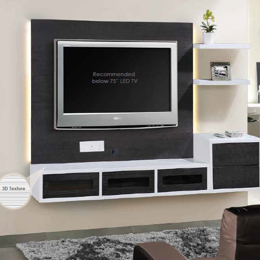 Modern Wall Hanging Type TV Cabinet With Showcase in Malaysia