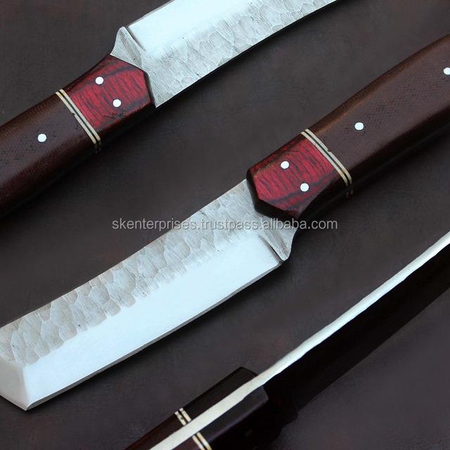 Railroad Spike Tanto Knife Steel blade knife
