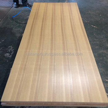 Beautiful Japanese Ash veneered fancy plywood with super low formaldehyde emission made in Japan