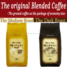 Delicious and Affordable coffee with the economy sizes/Produced by Fujita Coffee of the Long-established Japanese coffee brands