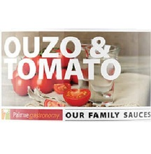 Greek Ouzo & Tomato Flavour Pasteurized Spicy Food Sauce ideal for Pasta , White Meat , Seafood , Poultry or Schnitzel - 1.200gr