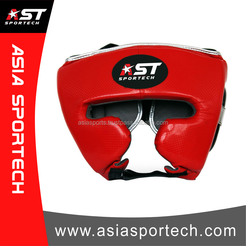 Real Leather Boxing Head Guard, Top Quality Boxing Helmet