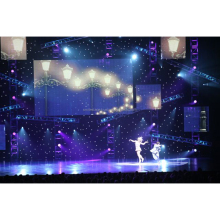 RK Outdoor christmas star lights Led Curtain Lights fiber optic night lights