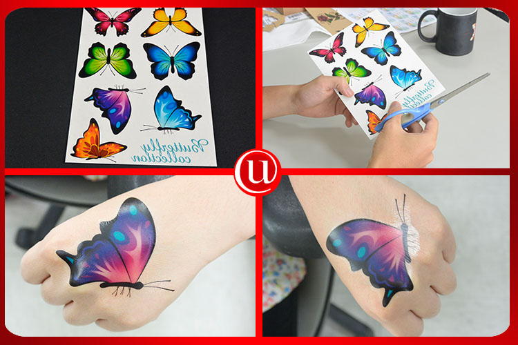 Long lasting inkjet printer high quality temporary tattoo paper