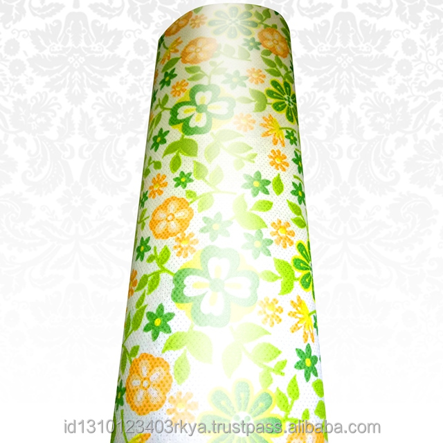 High Quality Spunbond Printing Laminated fabric non woven Sweet Flower Green Spunbond Bag