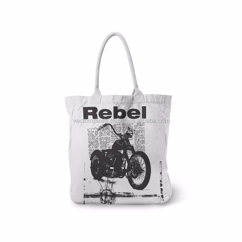 printed cotton canvas tote bag wholesale customized tote bags leather handle organic cotton tote shopping bag