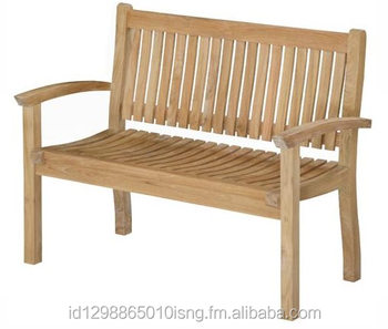 modern outdoor teak garden indonesia furniture garden Orchid Bench with wholesale