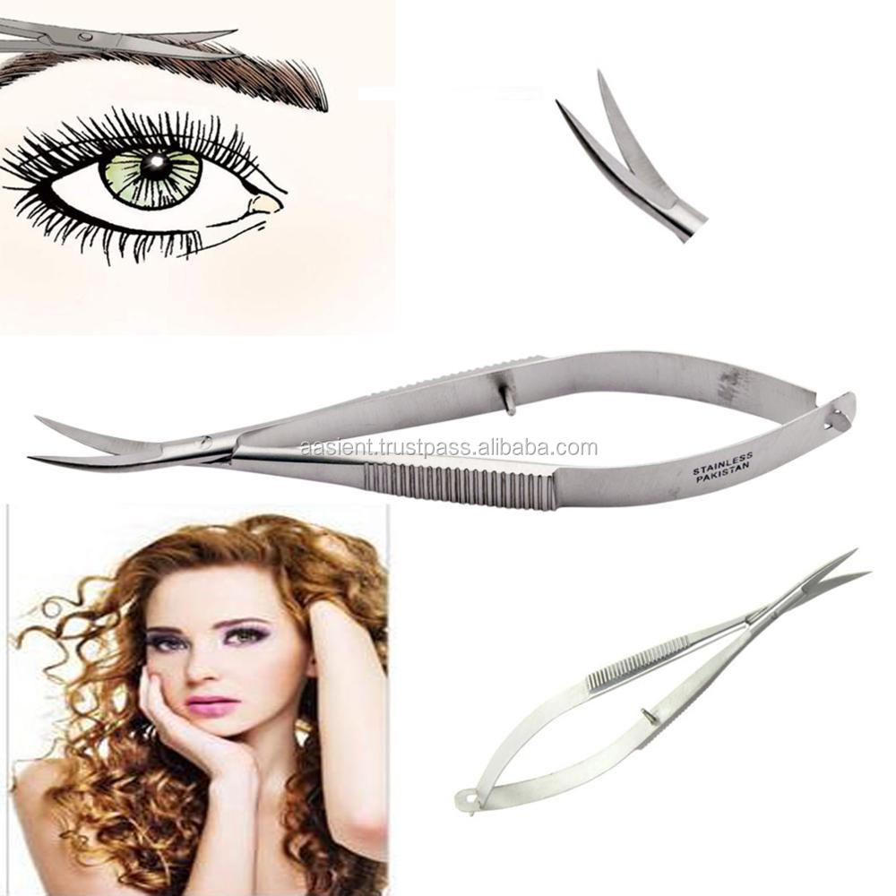 X-Type - Spring Action CuticleEyelash Scissors - Stainless Steel Micro Dissecting Spring Scissors; 14cm Ent Scissors Vannas Op