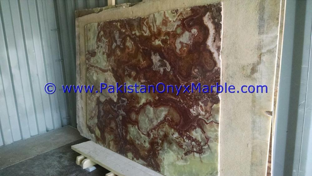 PAKISTAN FACTORY MADE MULTI RED ONYX SLABS COLLECTION