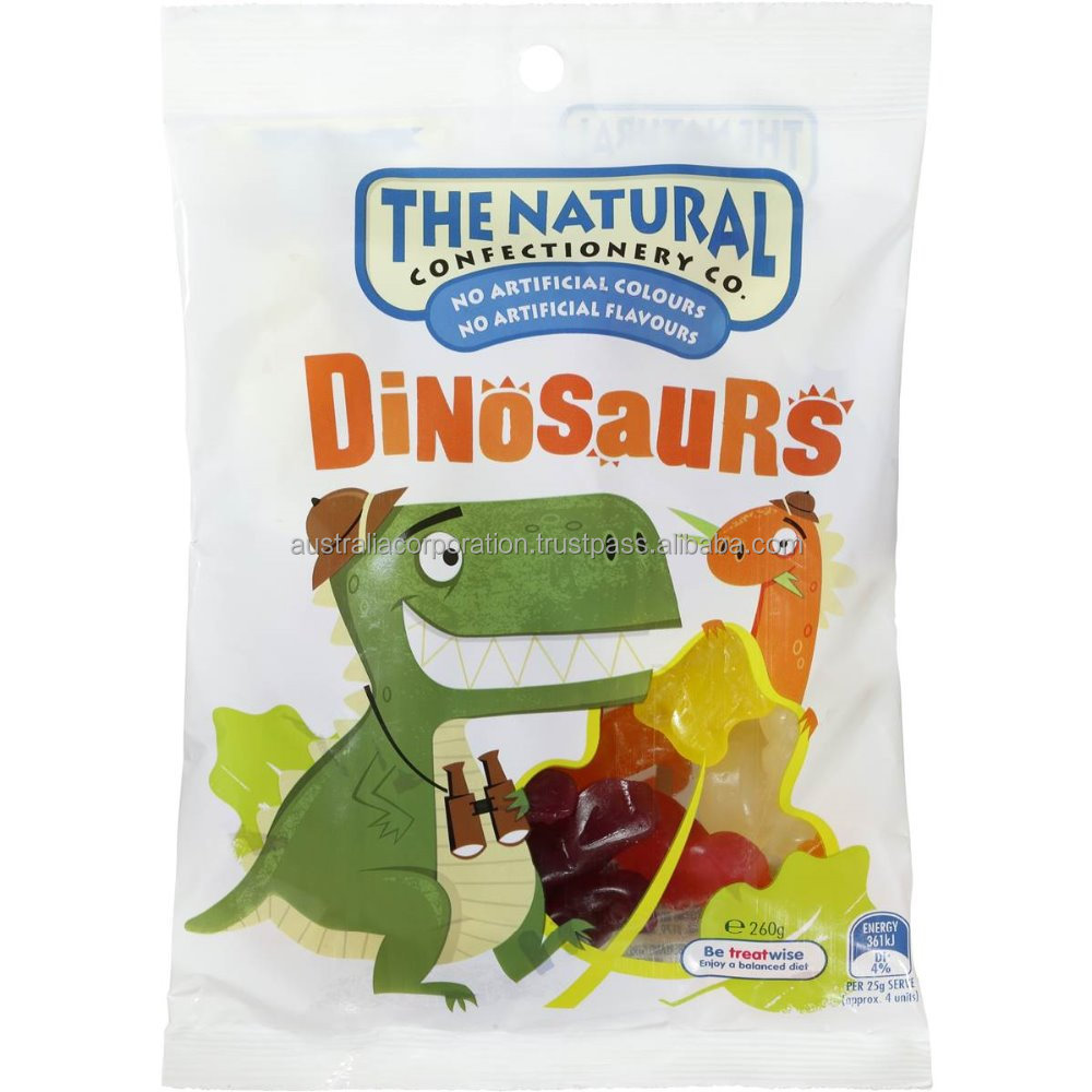 The Natural Confectionery Co Dinosaurs 260g