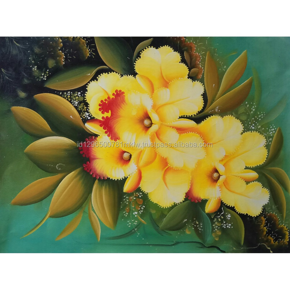 Wholesale Price High Quality Handmade Canvas Modern Orchid Flower Painting Wall Art
