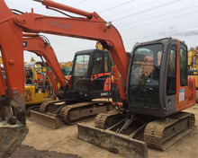 Original color used Hitachi ZX60 excavator for sale in Shanghai yard,used ZX55 ZX70 ZX120 ZX130