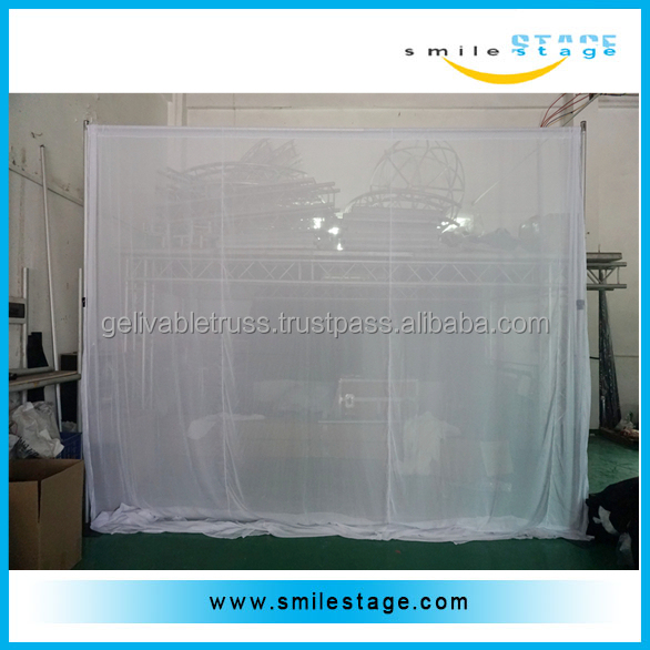 Used hotel curtains and drapes with aluminum pipe kits