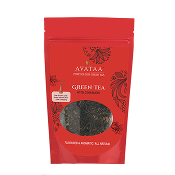 Avataa Cinnamon Green Tea : Made with Super Fine Green Tea & Cinnamon Sticks that boosts metabolism, high in antioxidants. (100