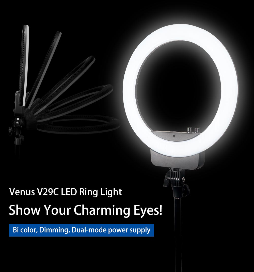 NanGuang VENUS V29C bi color 16 inches Ring LED light led circle ring light makeup photography studio lighting