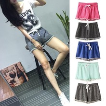 2017 New Summer Casual Cotton Black Short High Waist Shorts Femininos Women Workout Shorts Plus Size