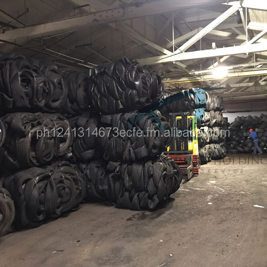 Scrap Tyres in bales, shredded, 3 cut