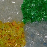 PET Bottle Flakes Hot Washed /ALU/ Clear Recycled Plastic Scraps