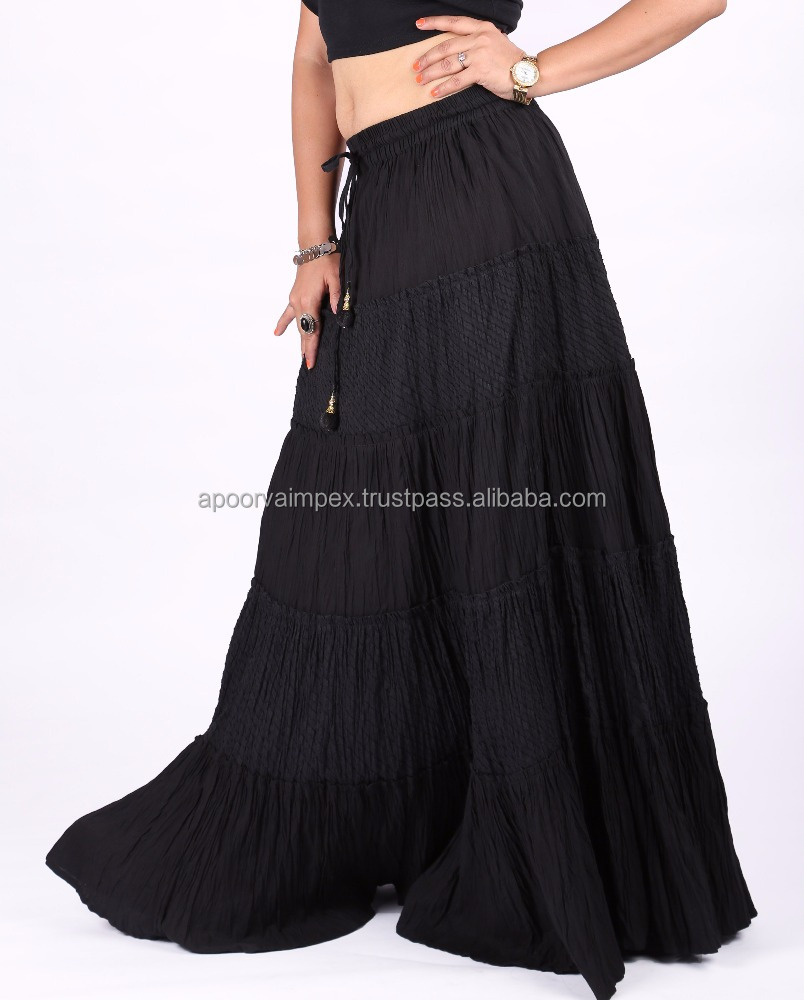 Jacquard ethnic Casual Cotton Wholesale skirt