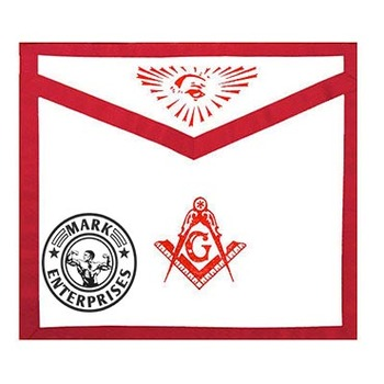 Masonic Master Mason Apron Red Lodge