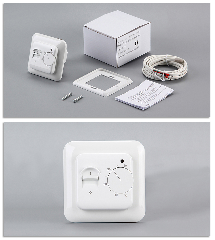 Exquisite workmanship ip20 5w self-extinguishing adjustable room thermostat