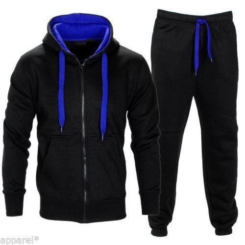 sweat suits wash and colour are a major Jogging Suit Tracksuit Sports Hooded Sweat Suit french terry fleece