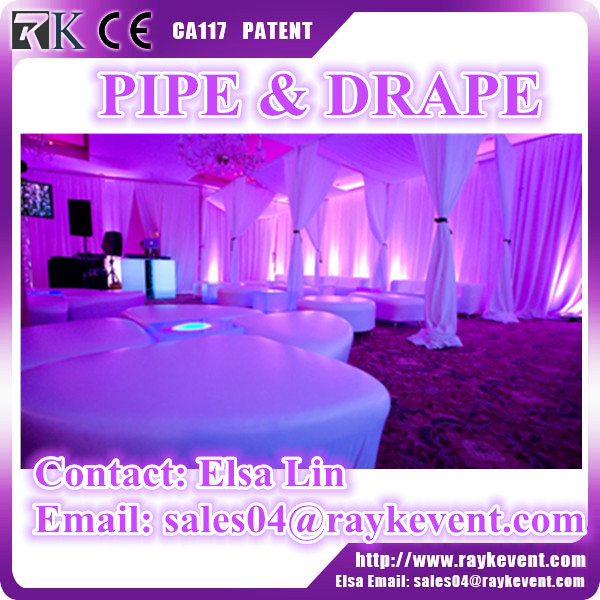 6ft to 10ft cheap pipe drape portable pipe and drape used pipe and drape for sale