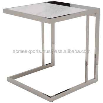 Contemporary Side Table Coffee Table Genuine Steel Solid Table Square