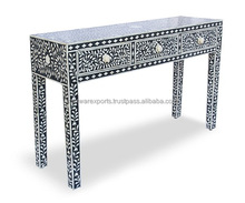 Bone Inlay Consol table 3 Drawer
