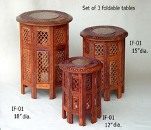 Stylish Wooden Fold able Craft work Multi purpose Tables