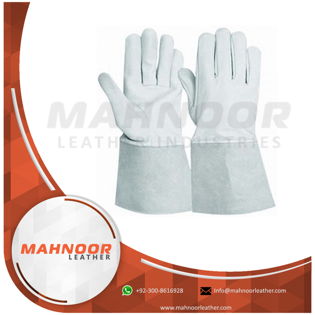 Goat skin Tig welding Gloves,Long welding hand gloves,Safe hands gloves