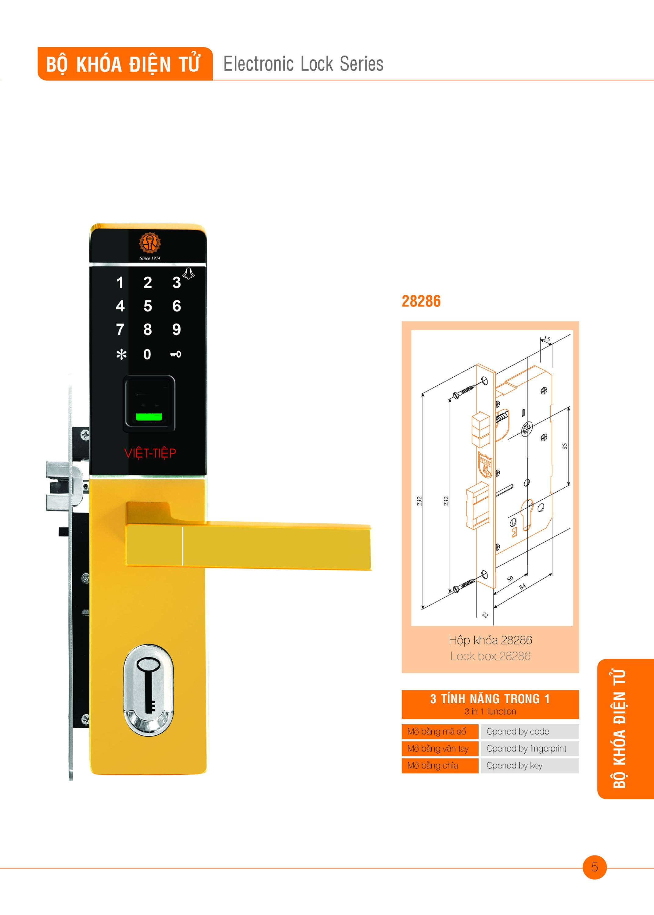 Electronic Lock series 3 in 1