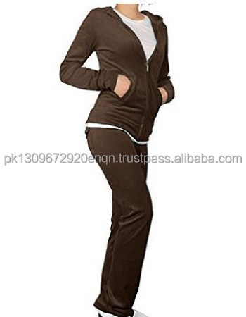 Outstanding quality Velvet suit for woman in brown color